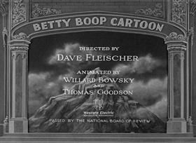 Screenshots from the 1932 Fleischer Studio cartoon Betty Boop, M.D.