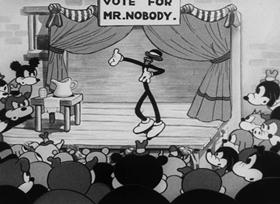 Screenshots from the 1932 Fleischer Studio cartoon Betty Boop for President