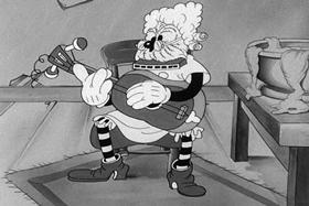 Screenshots from the 1932 Walter Lantz cartoon Grandma