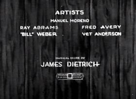 Screenshots from the 1932 Walter Lantz cartoon Making Good