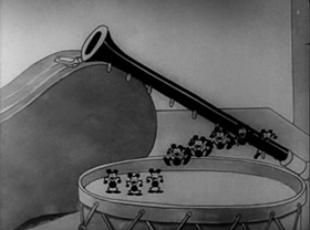 Screenshots from the 1932 Warner Brothers cartoon It