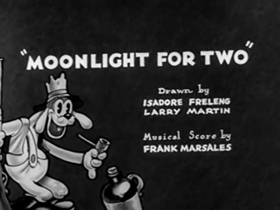 Screenshots from the 1932 Warner Bros. cartoon Moonlight For Two