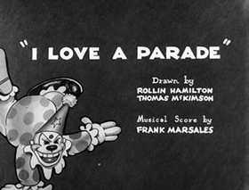 Screenshots from the 1932 Warner Brothers cartoon I Love a Parade