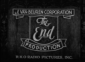 Screenshots from the 1933 Van Beuren cartoon Tight Rope Tricks