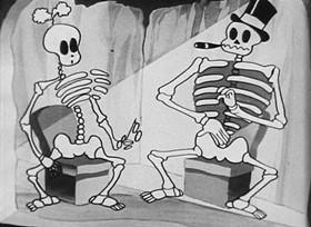 Screenshots from the 1933 Van Beuren cartoon Magic Mummy