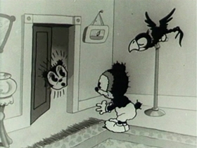 Screenshots from the 1933 Van Beuren cartoon Love