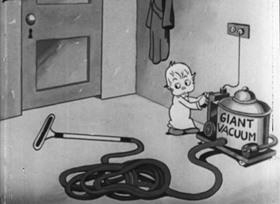 Screenshots from the 1933 Van Beuren cartoon Puzzled Pals