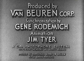 Screenshots from the 1933 Van Beuren cartoon Pals
