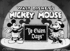 Screenshots from the 1933 Disney cartoon Ye Olden Days