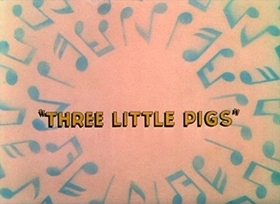 Screenshots from the 1933 Disney cartoon Three Little Pigs