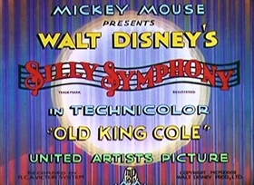 Screenshots from the 1933 Disney cartoon Old King Cole