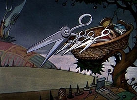 Screenshots from the 1933 Disney cartoon Lullabye Land