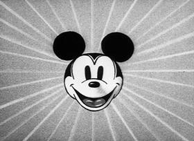 Screenshots from the 1933 Disney cartoon Puppy Love