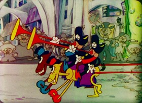 Screenshots from the 1933 Ted Eshbaugh cartoon The Wizard of Oz