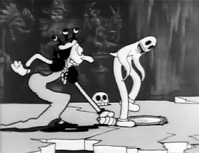 Screenshots from the 1933 Fleischer Studio cartoon Snow White