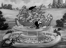 Screenshots from the 1933 Fleischer Studio cartoon Betty Boop