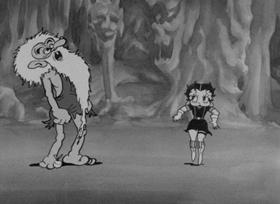 Screenshots from the 1933 Fleischer Studio cartoon The Old Man of the Mountain