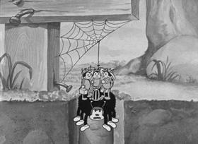 Screenshots from the 1933 Fleischer Studio cartoon I Heard