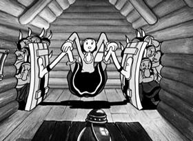 Screenshots from the 1933 Fleischer Studio cartoon I Yam What I Yam