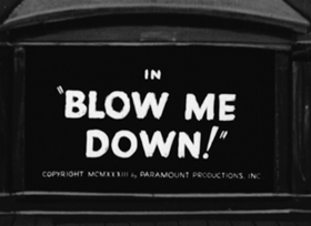 Screenshots from the 1933 Fleischer Studio cartoon Blow Me Down
