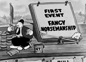 Screenshots from the 1933 Fleischer Studio cartoon I Eats My Spinach