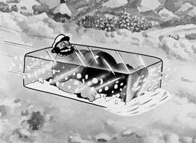 Screenshots from the 1933 Fleischer Studio cartoon Seasin