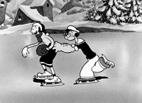 Screenshots from the 1933 Fleischer Studio cartoon Seasin