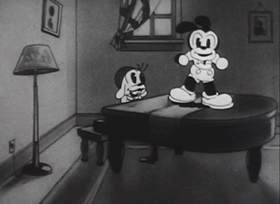 Screenshots from the 1933 Walter Lantz cartoon The Plumber