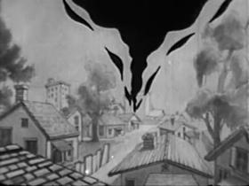 Screenshots from the 1933 Walter Lantz cartoon Going to Blazes
