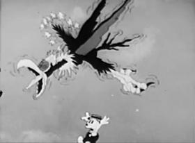 Screenshots from the 1933 Walter Lantz cartoon Nature