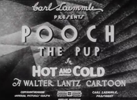 Screenshots from the 1933 Walter Lantz cartoon Hot and Cold