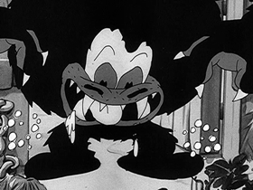 Screenshots from the 1933 Walter Lantz cartoon King Klunk