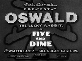 Screenshots from the 1933 Walter Lantz cartoon Five and Dime