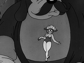 Screenshots from the 1933 Walter Lantz cartoon She Done Him Right