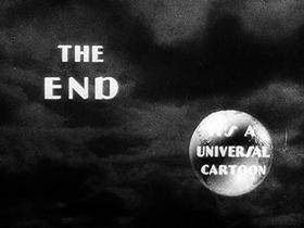Screenshots from the 1933 Walter Lantz cartoon Merry Old Soul