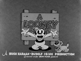 Screenshots from the 1933 Warner Brothers cartoon Ride Him, Bosko!