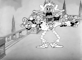 Screenshots from the 1933 Warner Bros. cartoon Young and Healthy