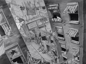 Screenshots from the 1933 Warner Brothers cartoon The Organ Grinder