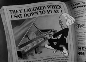 Screenshots from the 1933 Warner Brothers cartoon I Like Mountain Music