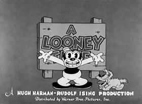 Screenshots from the 1933 Warner Brothers cartoon Bosko