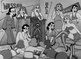 Screenshots from the 1933 Warner Brothers cartoon I