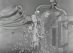 Screenshots from the 1933 Warner Bros. cartoon The Dish Ran Away With the Spoon