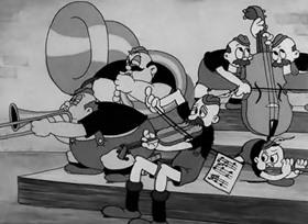 Screenshots from the 1933 Warner Brothers cartoon Buddy