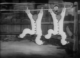 Screenshots from the 1933 Warner Brothers cartoon Sittin