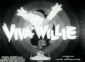 Screenshots from the 1934 Ub Iwerks cartoon Viva Willie