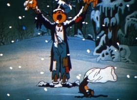 Screenshots from the 1934 Ub Iwerks cartoon Jack Frost