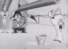 Screenshots from the 1934 Van Beuren cartoon Jest of Honor