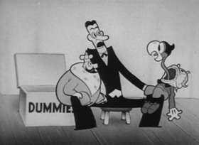 Screenshots from the 1934 Van Beuren cartoon A Royal Good Time