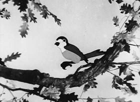 Screenshots from the 1934 Van Beuren cartoon A Little Bird Told Me