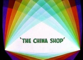 Screenshots from the 1934 Disney cartoon The China Shop